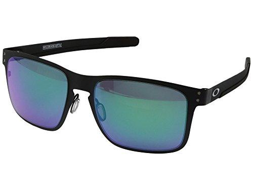 Oakley Holbrook Metal Sunglasses Matte Black with Jade Iridium Lens + - Oakley Prizm Holbrook Metal