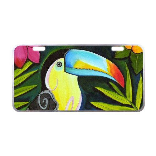 Toucan Metal - Durability and Strength Toucan Metal License Plate for Car tag - 6.1 X 11.8 inch Black Trim