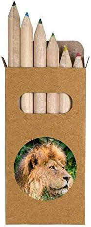 6 x Leeuw Korte 85mm potlodengekleurde potloodset PE00000605
