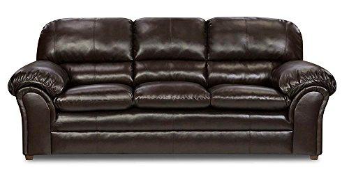 Simmons Upholstery 6159-03 Vintage Riverside Bonded Leather Sofa