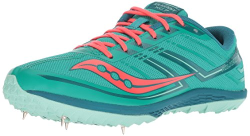 Saucony Women's Kilkenny XC7 Track Shoe, Teal/Red, 9.5 M US by Saucony