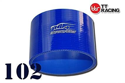 4PLY silicone dritto accoppiatore raccordo per tubo Turbo blu