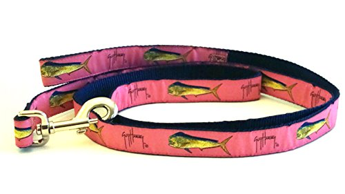 Guy Harvey Bull Dolphin - Guy Harvey Bull Dolphin Dog Leash-Pink