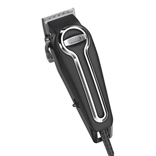 (Wahl Clipper Elite Pro High Performance Haircut Kit for men, includes Electric Hair Clippers, secure fit guide combs with stainless steel clips - By The Brand used by Professionals #79602)