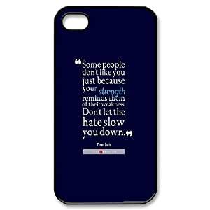 Dustin Funny Quote IPhone 4/4s Cases Thema Davis Quote About Strength and Weakness, [Black]