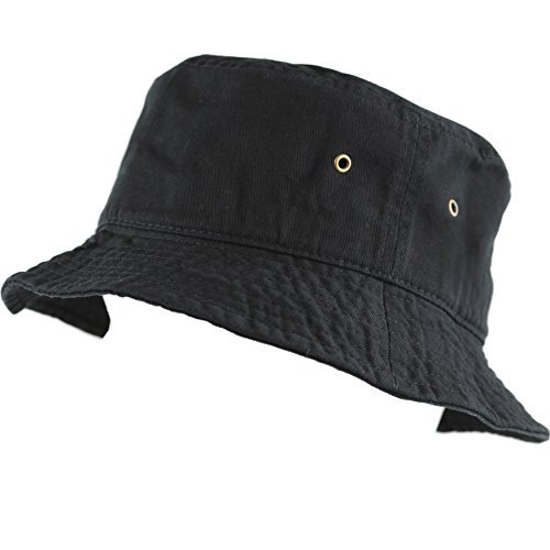 1484c3c44f2 THE HAT DEPOT 300N Unisex 100% Cotton Packable Summer Travel Bucket Hat at  Amazon Men s Clothing store