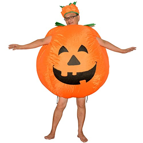 Inflatable Halloween Pumpkin Costume Bodysuit Blow Up Party Fancy Dress Funny Suit