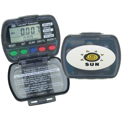 Sun Company TrekLINQ - 8-Function Pedometer and Step-Counter by Sun Company