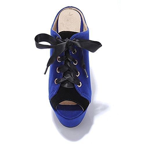 Fashion Heel - zapato con cordones mujer Azul