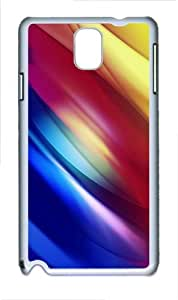 grove case abstract colorful pixelated curves PC White case/cover for Samsung Galaxy Note 3 N9000