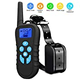 Dog Training Collar,Wireless Electric Shock Collar with 1650ft Remote,Rechargeable and Waterproof Dog Training Set with 4 Training Modes Beep Vibration Shock LED light Truck for Dogs (Remote+Collar)