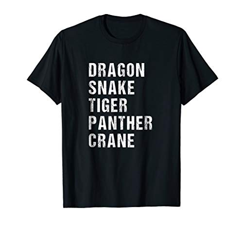 Five Animals Kung Fu Shirt