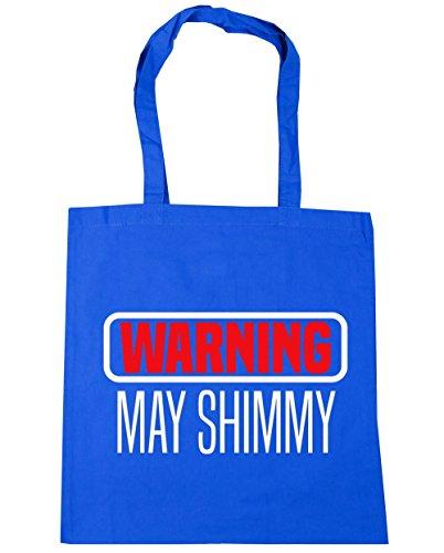HippoWarehouse advertencia puede Shimmy Tote Compras Bolsa de playa 42cm x38cm, 10litros Azul Aciano