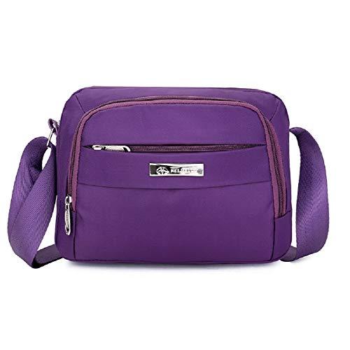 Púrpura Celular Color pequeño Mujeres estupendo para sólido ZHRUI los Unisex Bolsos teléfono Hombro Bolso los Mens Las del de de Bolso de Hombres del Crossbody y Hombres qIF0IA