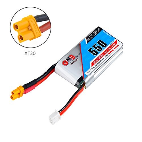 550mAh 80C 2S 7.4V LiPo Battery Pack with XT30 Plug for Micro FPV Racing Drone Quadcopter