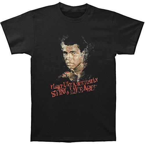 Muhammad Ali Men's Sting Like A Bee T-shirt XX-Large Black