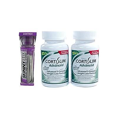 Basic Research Zantrex Skinny Stix Grape 25 ea and Cortislim Advanced Two Bottles