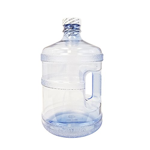 For Your Water 1 Gallon 3.7 Liter Polycarbonate Plastic Reusable Sport Water Bottle Container Jug with Handle and with 38MM Screw Cap 6.5