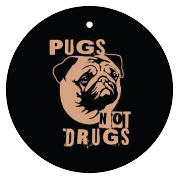 PUGS-NOT-DRUGS-CAR-AIR-FRESHENER