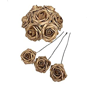 50 pcs Artificial Flowers Foam Roses for Bridal Bouquets Wedding Centerpieces Kissing Balls 8