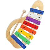 Upado Unlimited Glockenspiel Xylophone, Handcrafted Precision Tuned Musical Instrument Includes Sturdy Wooden Mallet and Educational 12 Page Music Pattern Song Book