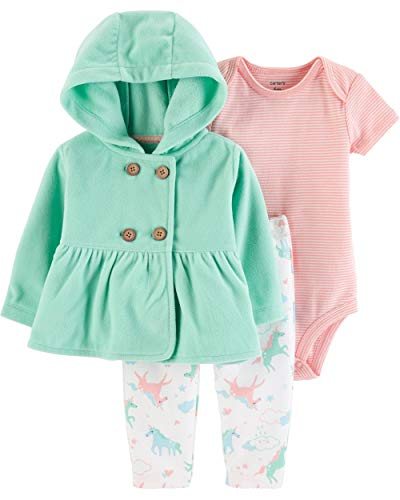 - Carter's Baby Girls' Cardigan Sets (Turquoise/Pink Unicorns, 6 Months)
