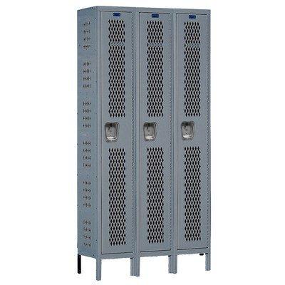 Heavy Duty Ventilated Locker (Heavy-Duty 1 Tier 3 Wide Ventilated Box Locker Size: 54