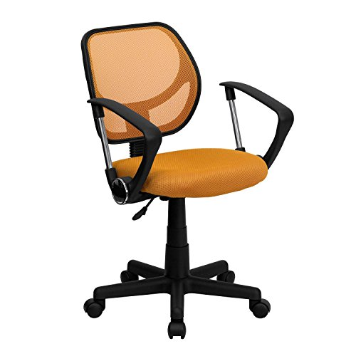 Mid-Back Orange Mesh Task Chair
