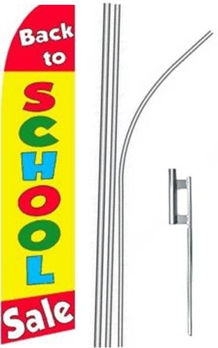 (5) five BACK TO SCHOOL SALE #4 15' Swooper #4 Feather Flags KIT