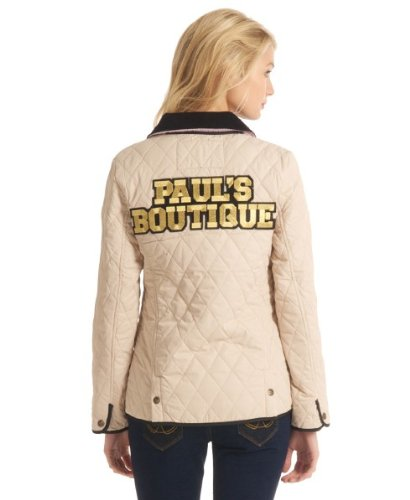 Pauls Boutique Bright Cream Quilted Badged Jacket B143 (10 ... : pauls boutique quilted jacket - Adamdwight.com