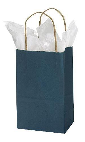 Amazon.com: Pequeño Azul Marino Bolsa De La Compra De Papel ...