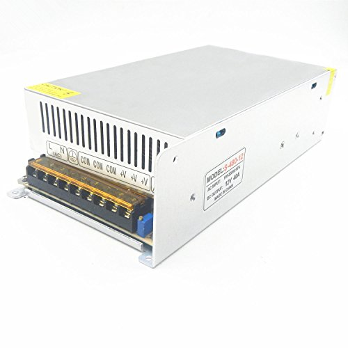 - DC 12V 40A 480W Switch Power Supply, Universal Regulated Power Transformer for LED Strip Light/CCTV Camera/Security System/Radio/Computer Project