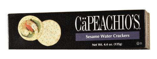 Capeachio's Sesame Water Cracker, 4.4-Ounce Boxes (Pack of 12)