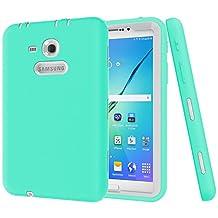 "Galaxy Tab 3 Lite 7.0 Case,Galaxy Tab E Lite 7.0 Case,MAKEIT Shock-Absorption / High Impact Resistant Hybrid Dual Layer Armor Defender Full Body Protective Case Cover for Samsung Galaxy Tab 3 Lite 7.0"" and Tab E Lite 7.0""-Mint Green/Grey"