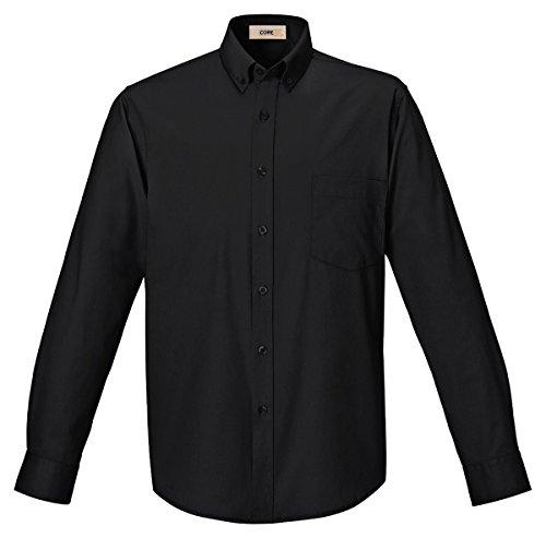 Core Long Sleeve Shirt (Core 365 Mens Operate Long-Sleeve Twill Shirt (88193)- Black 703,Large)