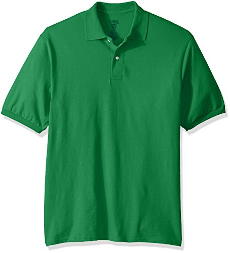 Green Mens Shirt - Jerzees Men's Spot Shield Short Sleeve Polo Sport Shirt, Kelly, Medium