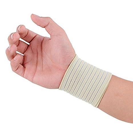 Amazon.com: eDealMax amarillento elástico deportes reloj de la Venda del APO Palma de la Mano Wrap vendaje Guardia de Apoyo: Health & Personal Care