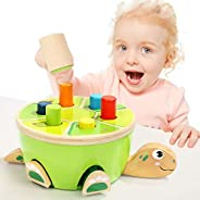 TOP BRIGHT Montessori Toys for Toddlers Learning Fine Motor Skills - Preschool Wooden Toys Hammering & Pounding Toys - Gifts