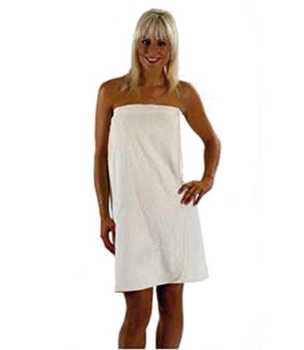 Ladies Towelling Sarong Bath Towel Wrap CREAM Colour 100 Cotton