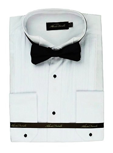 Alberto Danelli's Tuxedo Shirt with French Cuffs and Bow Tie