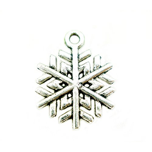 Housweety Christmas Snowflake Pendants 19x17mm