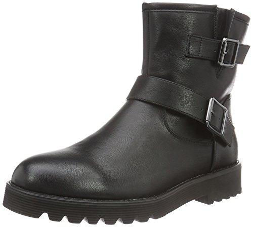 PIECES Damen Psdiego Boot Black Biker Schwarz (Black)