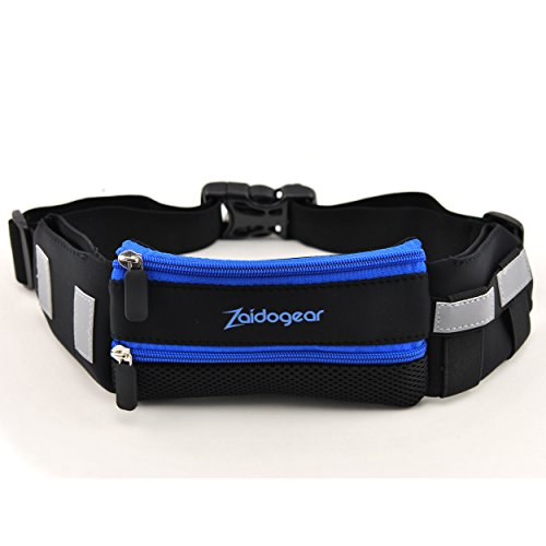 Running Belt For Men and Women, Water Resistant Pocket to Hold Phone, Keys and Credit Cards. One-Size Fits All.