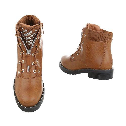Chaussures femme Bottes et bottines Bloc Western- & Bikerbottes Ital-Design Braun zm7RRQjkqI
