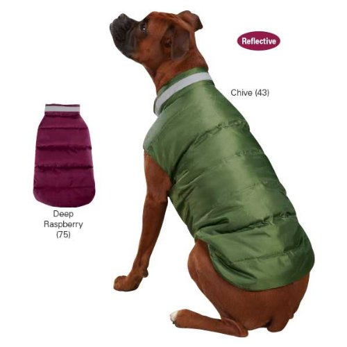 East Side Collection North Paw Puffy Vest, Large, Deep Raspberry