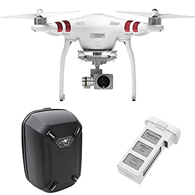 DJI Phantom 3 Standard Quadcopter Aircraft with 3-Axis Gimbal and 2.7k Camera - Bundle with Spare Battery by DJI