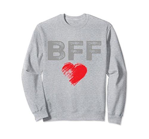 Forever Adult Sweatshirt (Unisex BFF Best Friends Forever Cool Sweatshirt Men Women Adult 2XL Heather Grey)
