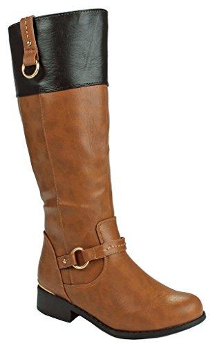 JJF Schuhe für immer Link Mango-21 Lady Boot Kamel / Blk_fk