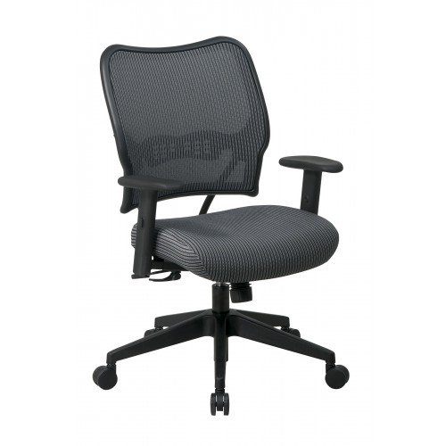 Office Star Deluxe Chair with Charcoal VeraFlex Back and Sea