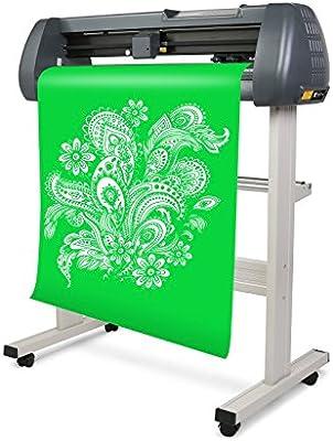 Hpcutter Plotter Plotter electrónico de corte para el corte de vinilo Vinyl Plotter Cutting Plotter Cutter, color negro 720mm: Amazon.es: Oficina y papelería
